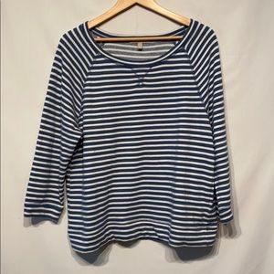 Banana Republic Striped Top Size Large Like New